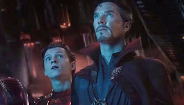 Spider-Man y Doctor Strange en Vengadores: Infinity War