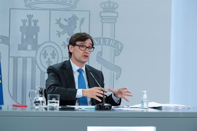 El ministro de Sanidad, Salvador Illa, ofrece una rueda de prensa telemática tras la reunión del Consejo Interterritorial del Sistema Nacional de Salud (CISNS), en Moncloa, Madrid (España) a 30 de septiembre de 2020. En su comparecencia, ha anunciado que