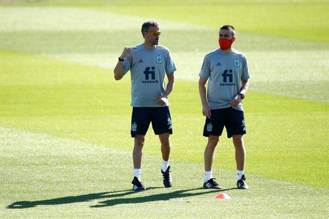 Soccer: Spain Team training session
