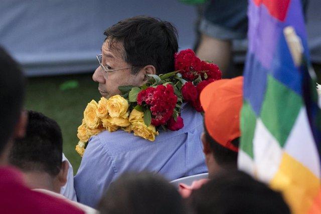 El candidato a la Presidencia de Bolivia por el Movimiento Al Socialismo (MAS), Luis Arce