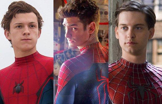 Tom Holland, Tobey Maguire y Andrew Garfield, los Spider-Man del cine