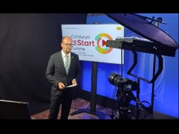 El director de l'ACT, David Font, presenta telemàticament la campanya Catalunya reStart Turisme.