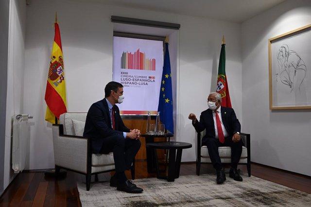 El president del Govern central, Pedro Sánchez, i el primer ministre de Portugal, Antonio Costa
