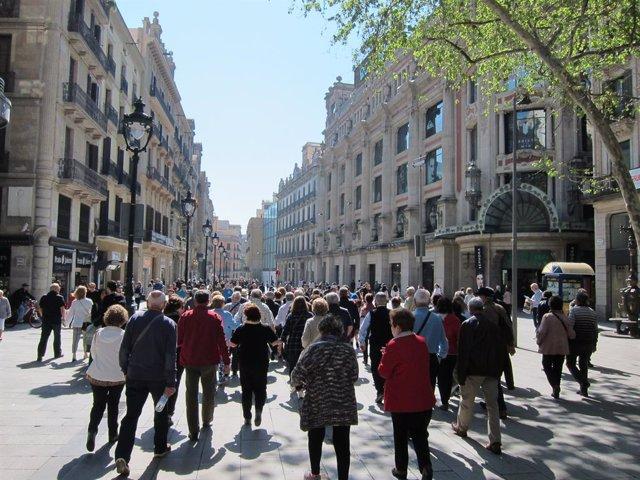 Portal de l'Àngel, un dels carrers més comercials de Barcelona