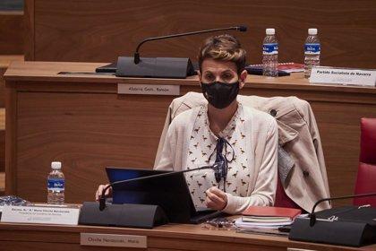 """Chivite dice que el estado de alarma en la Comunidad de Madrid se debe a que """"no se tomaban decisiones"""""""
