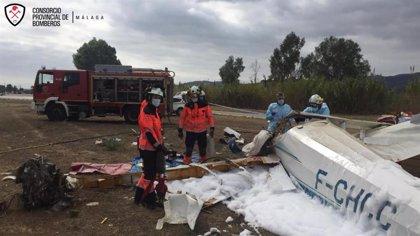 Un fallecido y un herido tras estrellarse una avioneta en Vélez-Málaga
