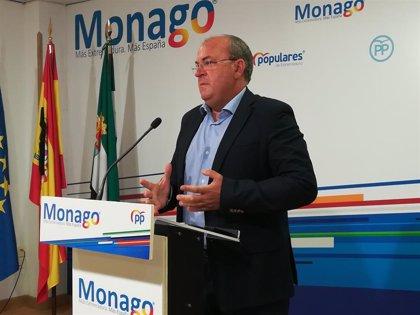 Monago lamenta que Sánchez se comprometa con el AVE para Galicia y no para Extremadura