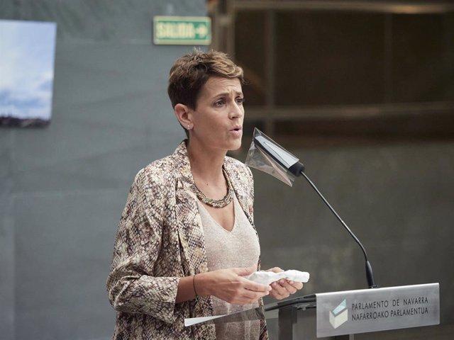 La presidenta del Govern de Navarra, María Chivite