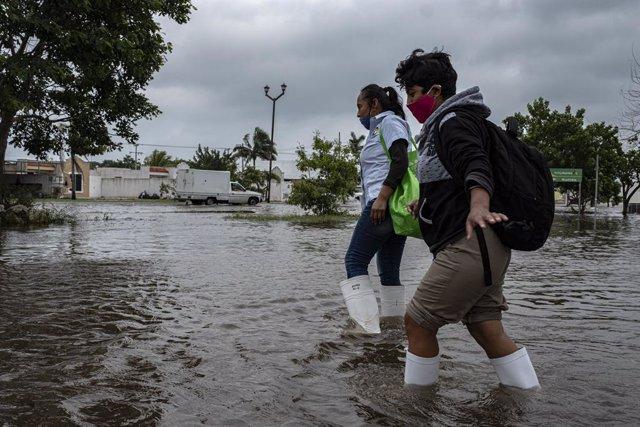 Inundació causada per l'huracà 'Delta' a Mèxic