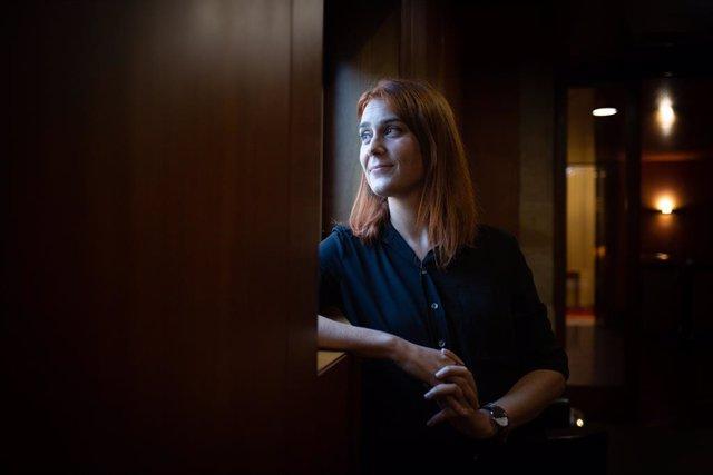 Jéssica Albiach durant l'entrevista