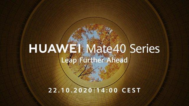 Huawei presentará su nueva serie Mate 40 el próximo 22 de octubre