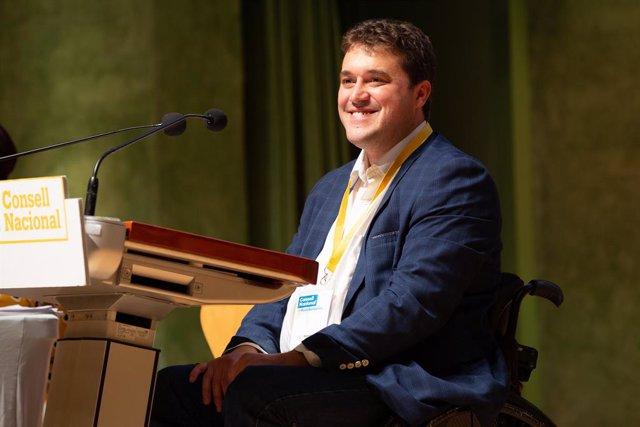 El president del PDeCAT, David Bonvehí, intervé en el Consell Nacional del partit a Barcelona (Cataluña/España), 5 d'octubre del 2019.
