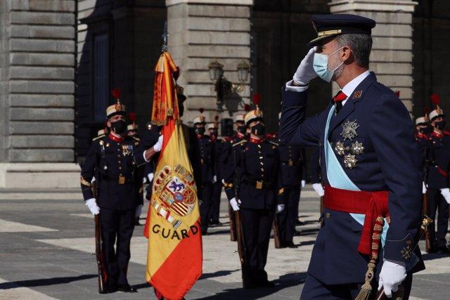 Imagen del Rey Felipe VI, en Madrid (España) a 12 de octubre de 2020