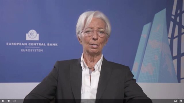 La presidenta del BCE, Christine Lagarde, en IMF anual meeting