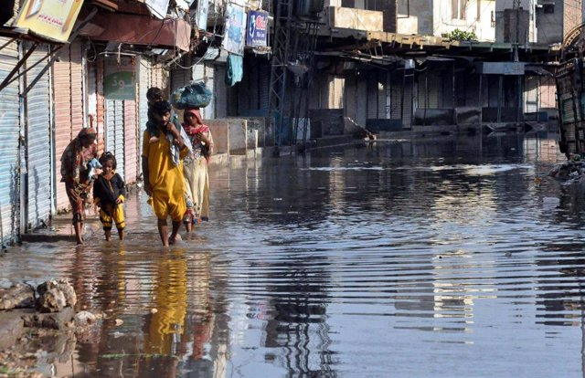 Inundació a Hyderabad, al Pakistan