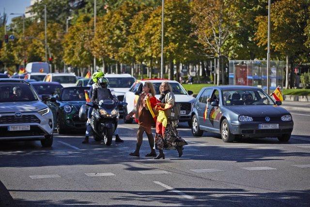 Manifestació convocada per Vox el Dia de la Festa Nacional, a Madrid