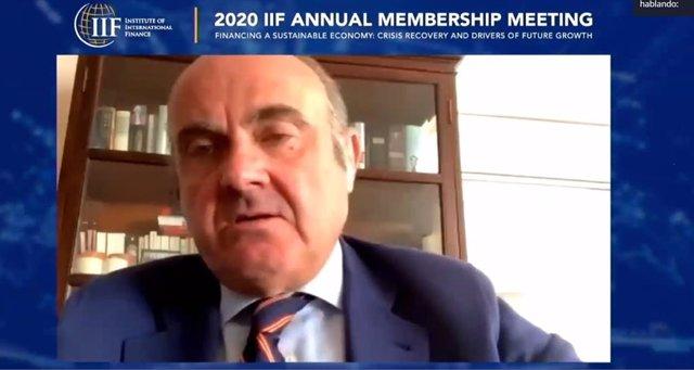 Vicepresidente del BCE, Luis de Guindos, en IIF Annual Membership Meetings