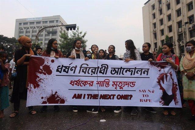 Protesta contra les violacions a Daca