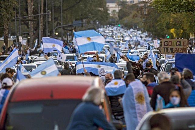 Protestas contra el Gobierno de Alberto Fernández en Buenos Aires.