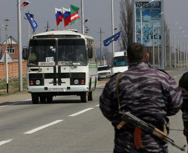 Rusia.- La Policía abate en Chechenia abate a cuatro hombres armados que planeab