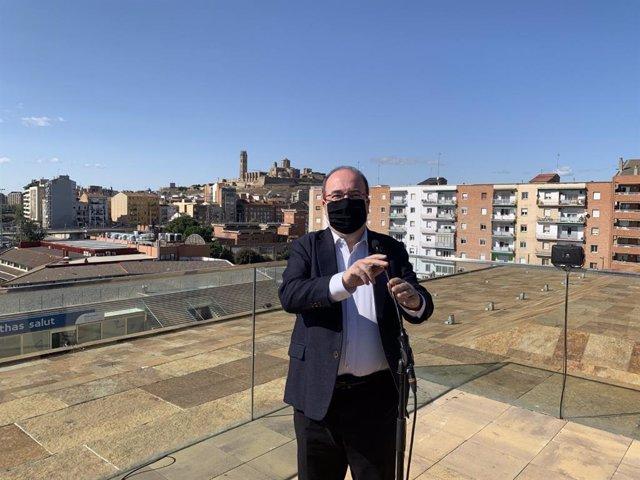 Miquel Iceta, a la Llotja de Lleida