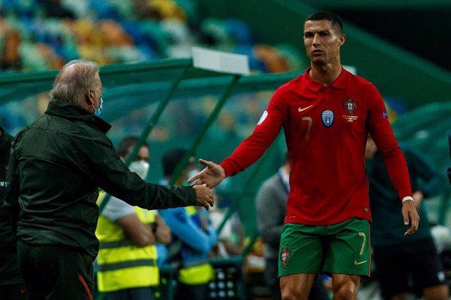 Cristiano Ronaldo jugando con Portugal