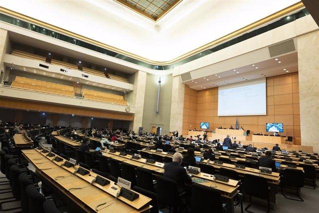 Imagen de archivo de un pleno del Consejo de Derechos Humanos de la ONU.