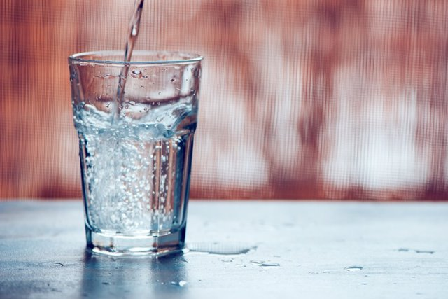 Agua, vaso.