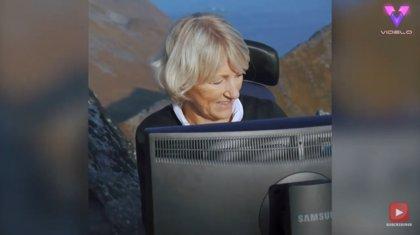 Esta oficina tiene unas vistas únicas y espectaculares a la Montaña Segla, en Noruega