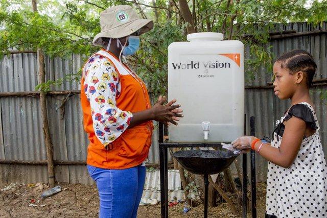 Lavado de manos en Kenia