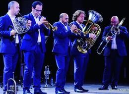 Actuación de Spanish Brass