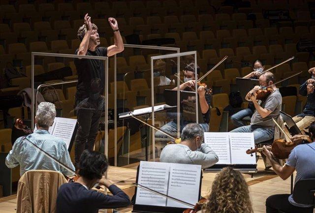 La Orquestra de la Comunitat Valenciana, bajo la dirección de Pablo Heras-Casado
