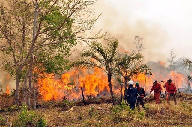 Imagen de archivo de un incendio en Bolivia.