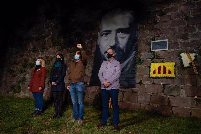Representants d'ERC en el 80è homenatge a l'expresident Lluís Companys
