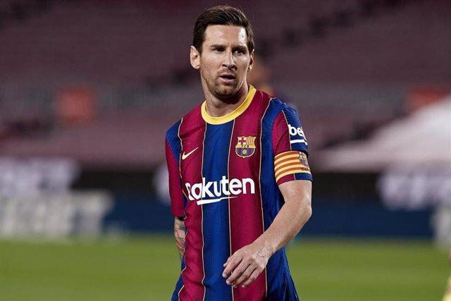 Lionel Messi durante un partdo del FC Barcelona