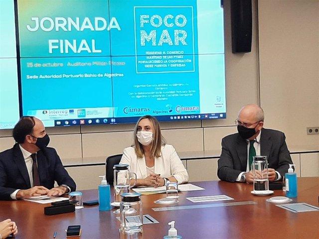 Marifrán Carazo en Focomar en Algeciras