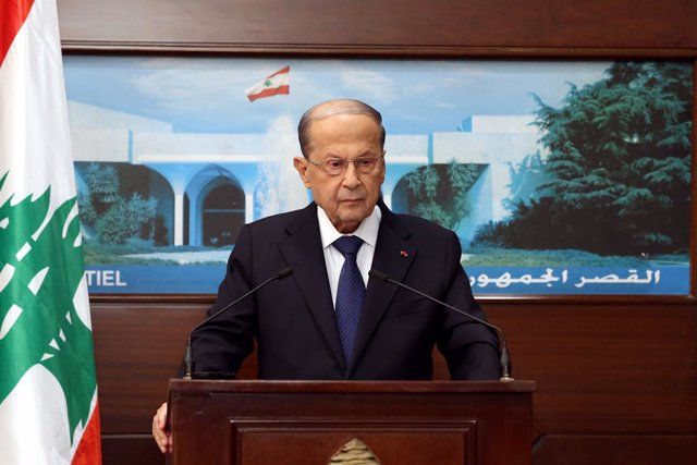 Líbano.- El presidente de Líbano aplaza al 22 de octubre las consultas parlament