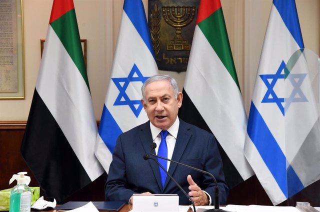 """O.Próximo.- Netanyahu niega que el acuerdo con EAU tenga """"anexos secretos"""" y pid"""