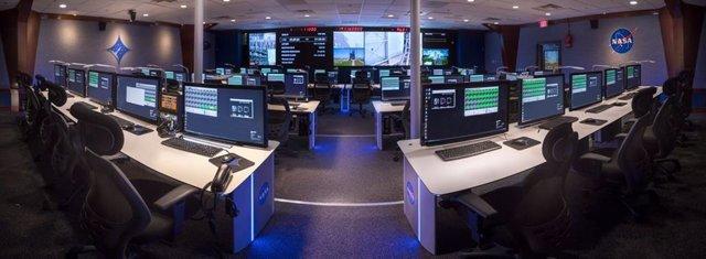 Mobiliario de GESAB en uno de los centros de control de la NASA