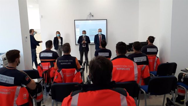 Carlos Toscano en la inauguración de la I Jornada de Educación Vial para Protección Civil en Bormujos
