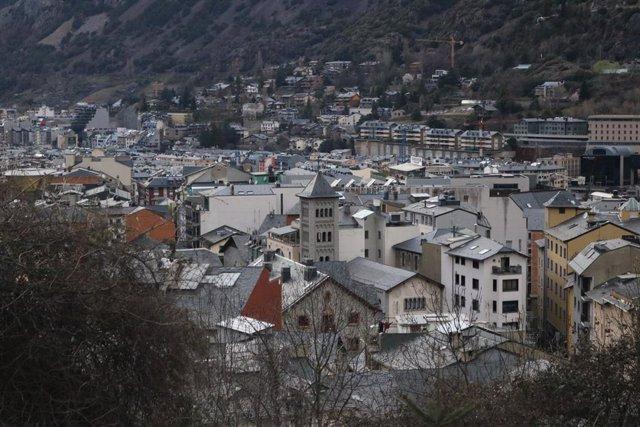 Els nuclis d'Escaldes-Engordany i Andorra la Vella.