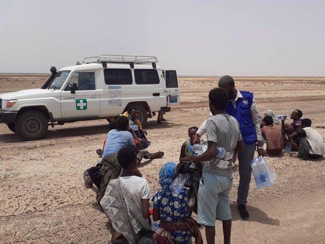 La OIM da ayuda a migrantes atrapados en Yibuti tras llegar desde Yemen