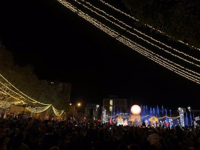L'encesa de llums de Nadal a Barcelona.
