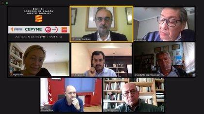 El Gobierno de Aragón y agentes sociales colaboran para la captación de fondos europeos de recuperación