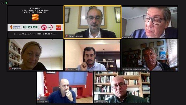 El Gobierno de Aragón y los agentes sociales colaboran para la captación de fondos europeos de recuperación.
