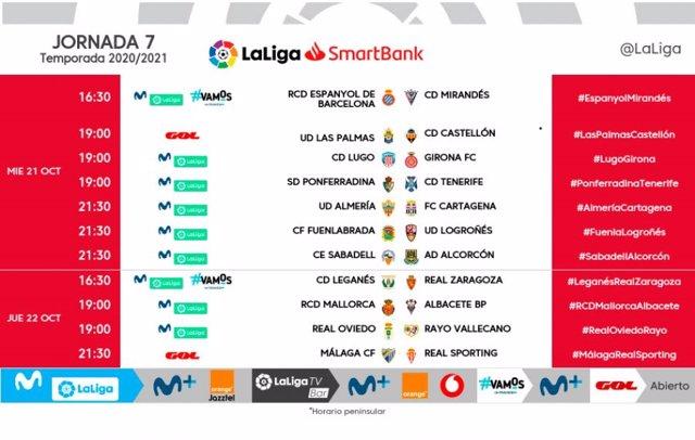 Fútbol.- LaLiga cambia los partidos del martes de la jornada 7 en la Liga SmartB
