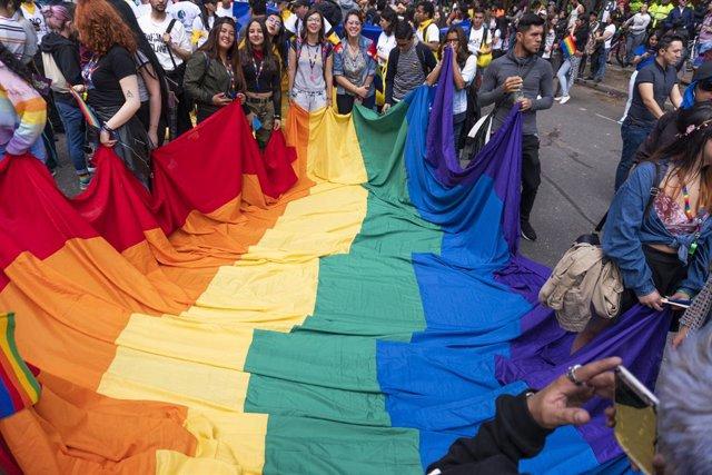 Desfile del Orgullo Gay en Colombia.