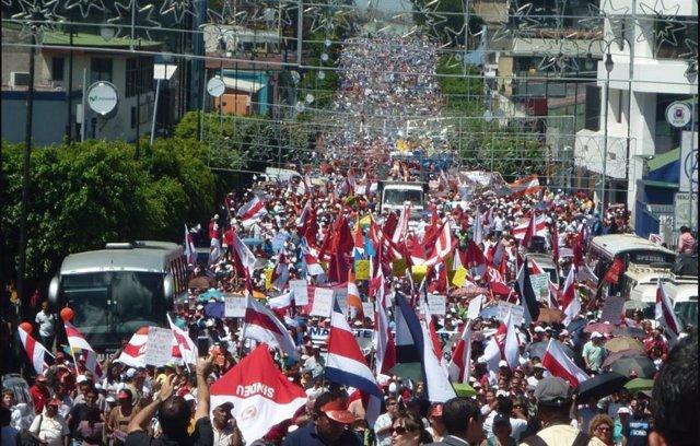 Imagen de archivo de protesas en Costa Rica.