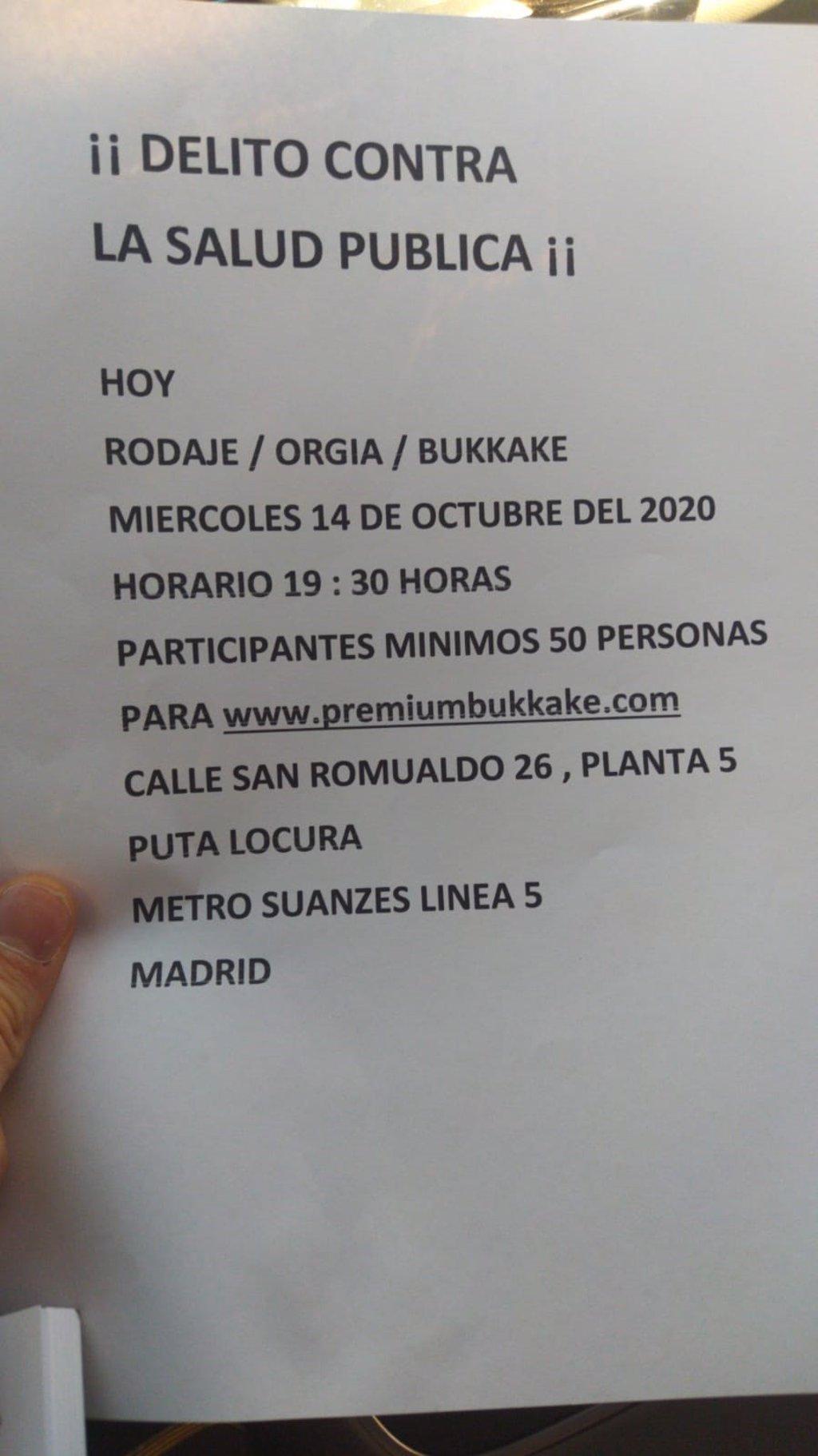 Noticia ruedan pelicula porno en las calles de madrid Denuncian A Torbe Por Grabar Una Escena Porno Con 50 Personas En Un Local De Madrid