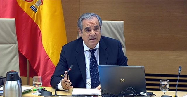 El presidente del Consejo General de Colegios Oficiales de Farmacéuticos, Jesús Aguilar, comparece en el Grupo de Trabajo de Sanidad y Salud Púbica de la Comisión para la Reconstrucción Social y Económica del Congreso de los Diputados